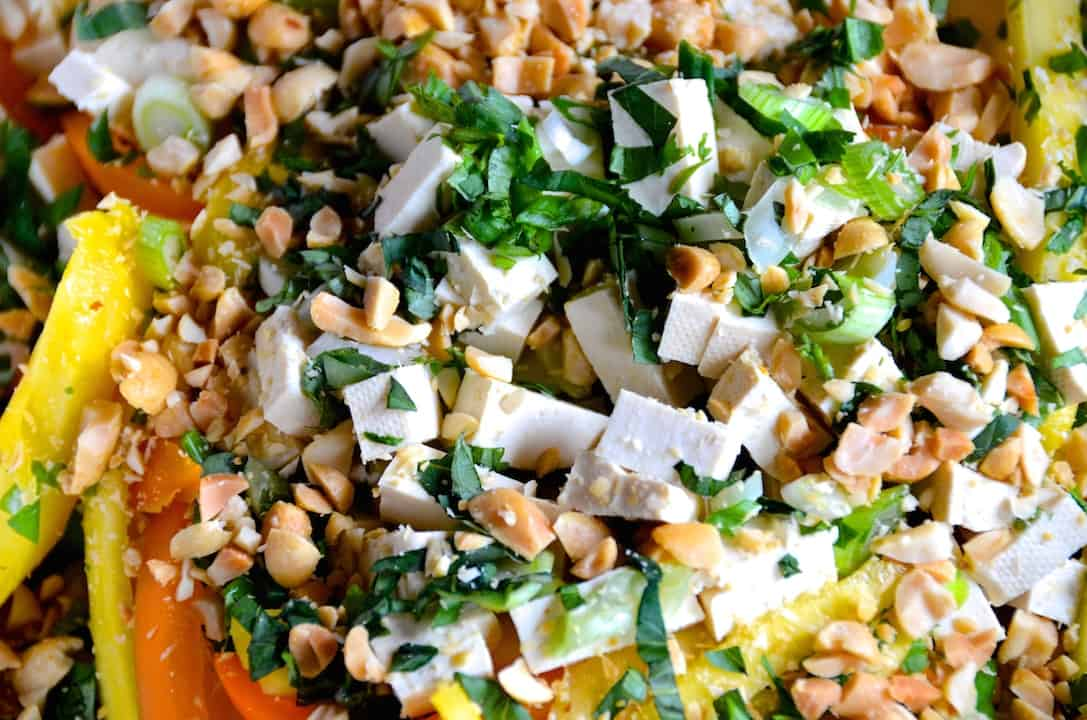 Chopped Salad With Asian Peanut Dressing