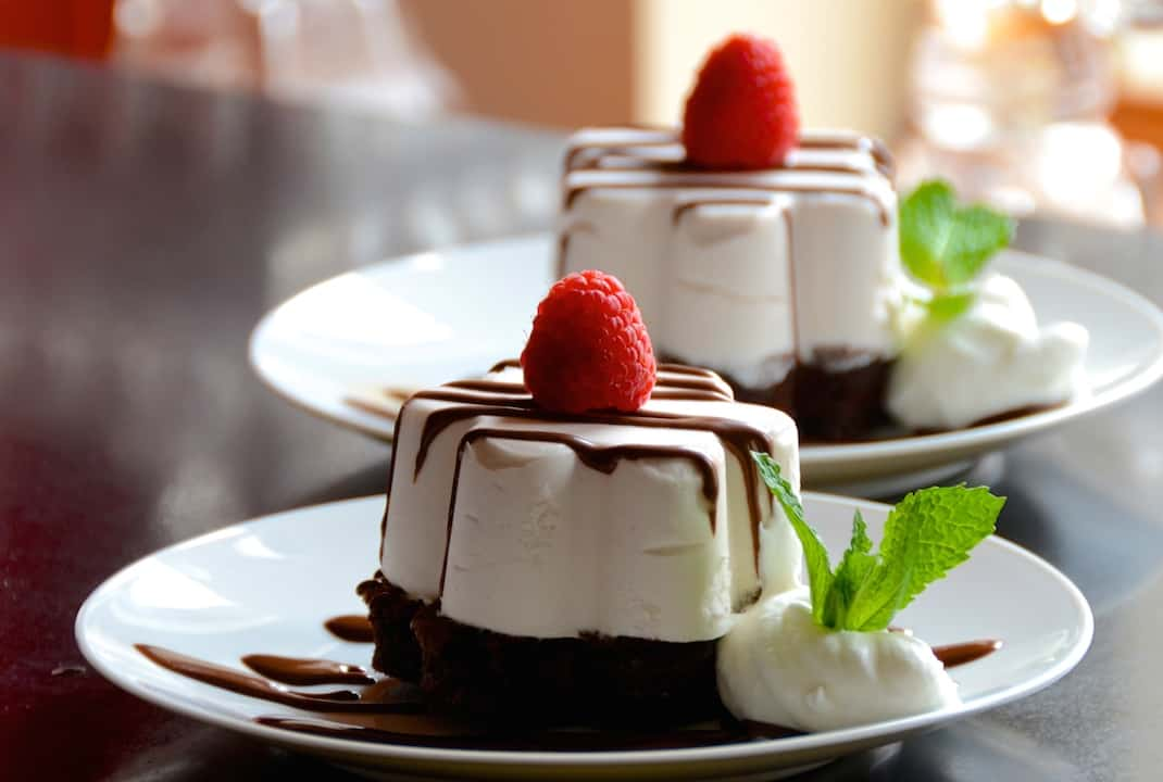 Cherry Marshmallow Mousse With Chocolate