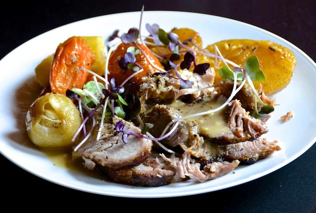 Roasted Pork Shoulder With Vegetables