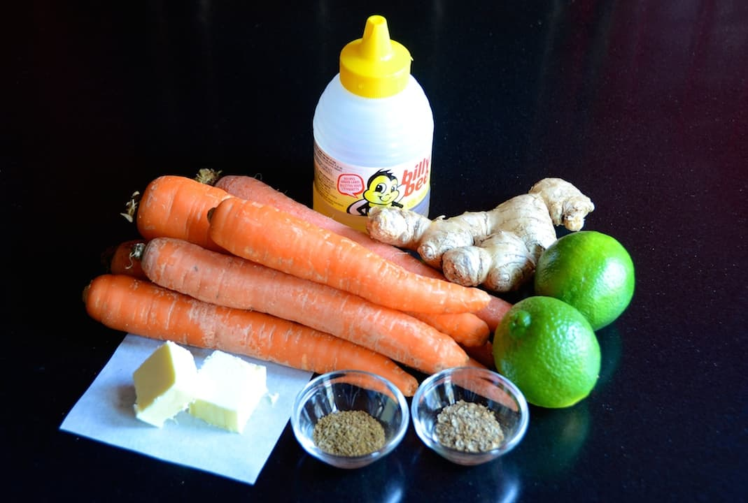 Spiced Lime Ginger Carrots