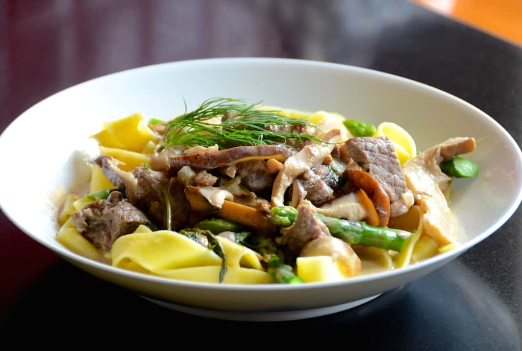 Lamb Stew With Creamy Wild Mushrooms