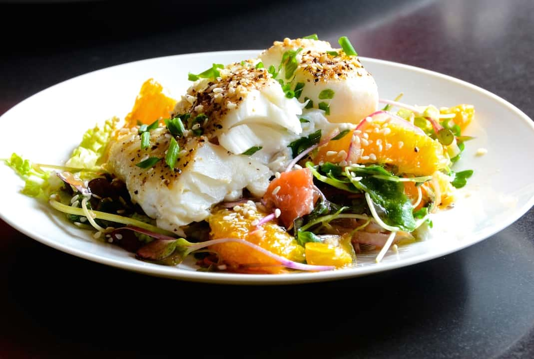 Baked Cod With Citrus Salad
