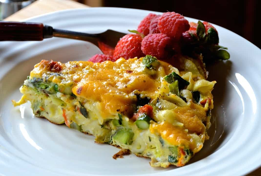 Asparagus and Sun Dried Tomato Frittata