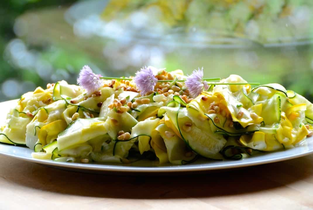 Zucchini Salad With White Truffle Oil