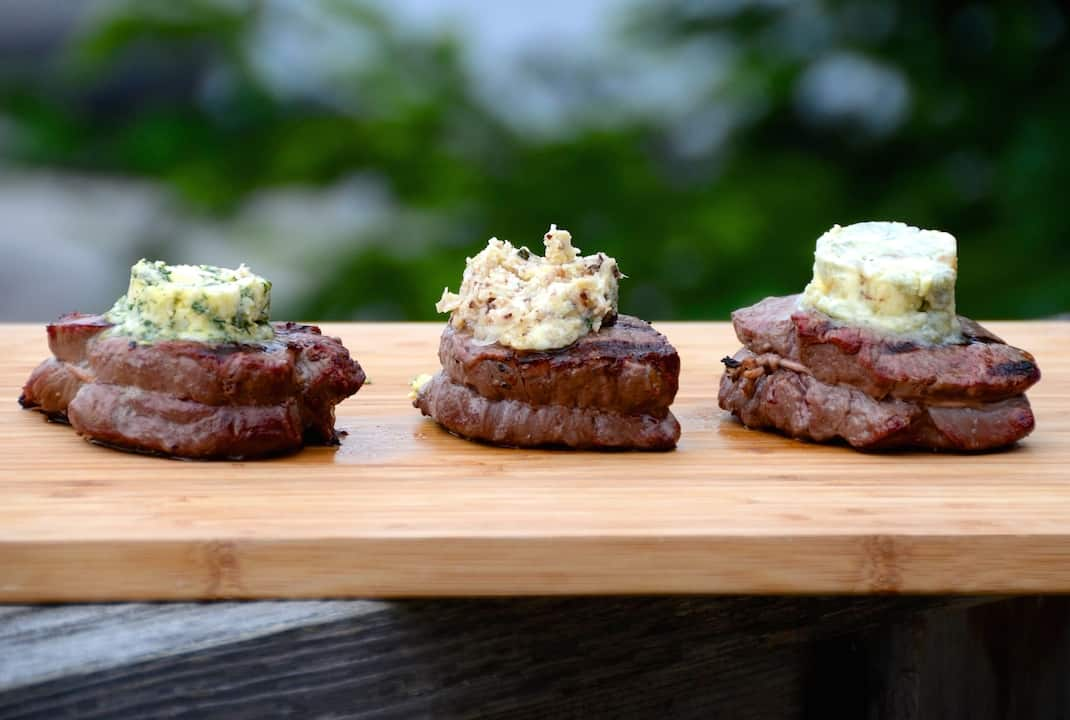 Filet Mignon With Compound Butters