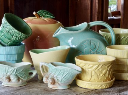 A collection of McCoy ceramic pieces