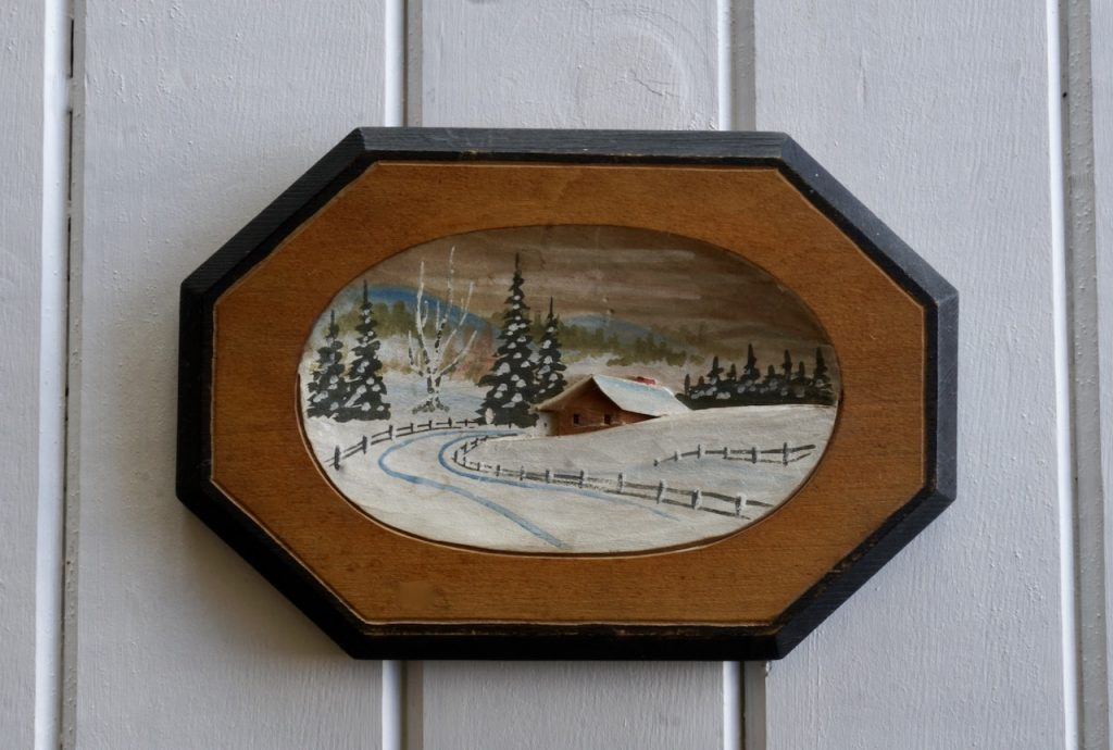 Close up of a wintery scene