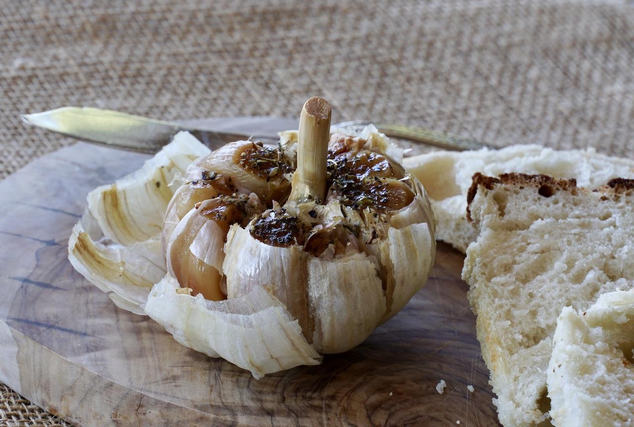 roasted garlic bulb