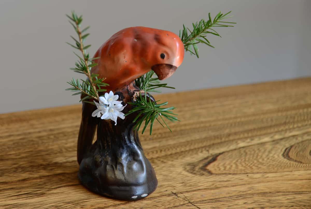 Vintage Parrot Vase