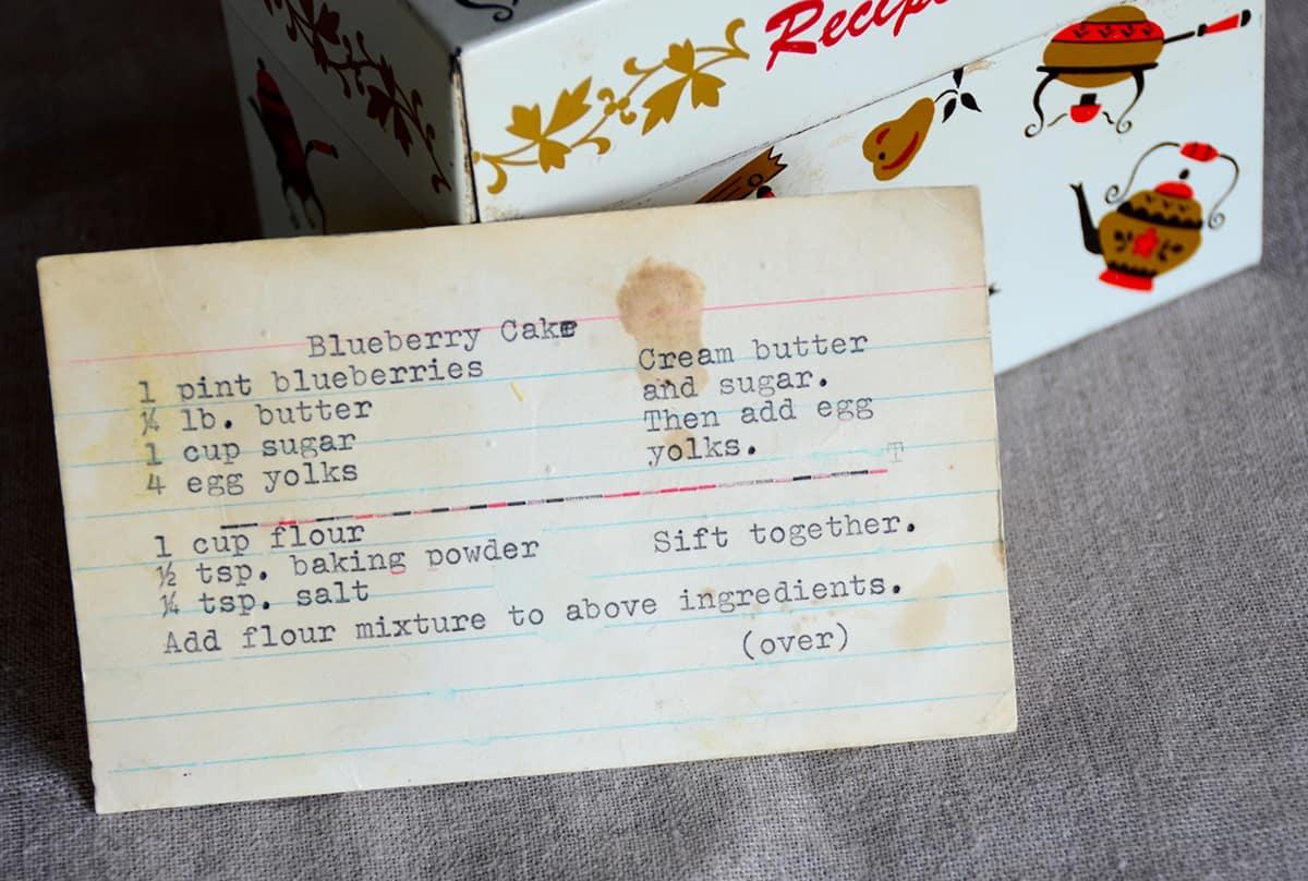 The original recipe card from my mom's recipe box