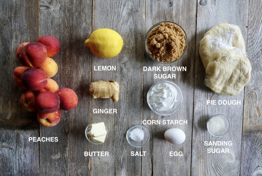 Ingredients for Classic Peach Pie
