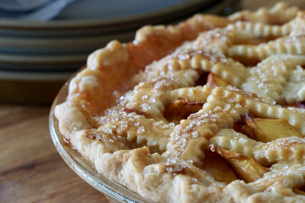The Classic Peach Pie just out of the oven