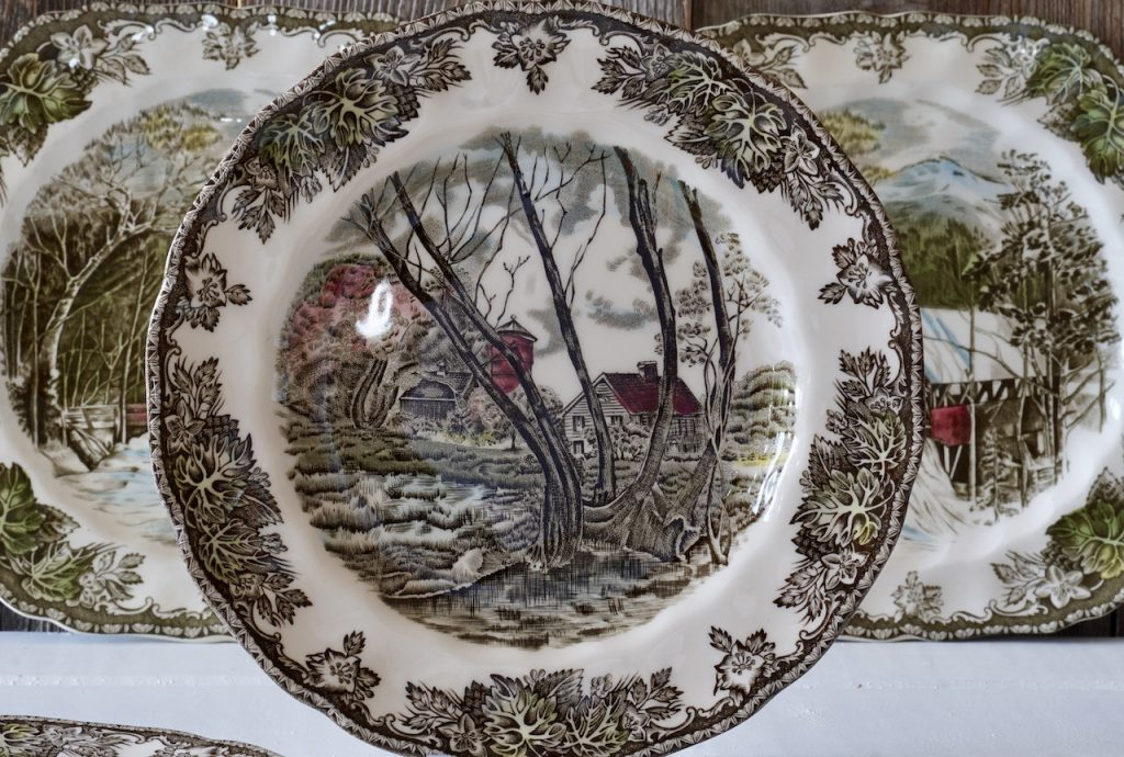 A Johnson Brothers plate
