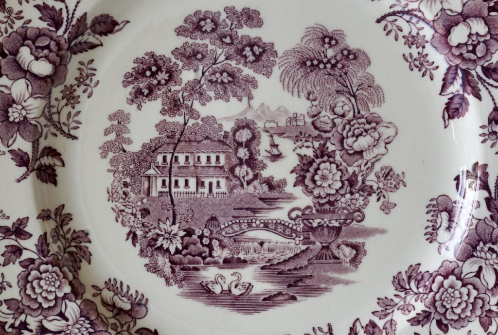Detail of a plate