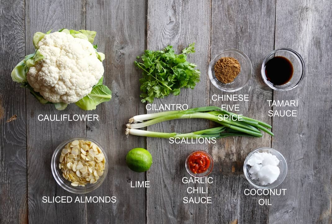 Ingredients for Cauliflower Side Dish