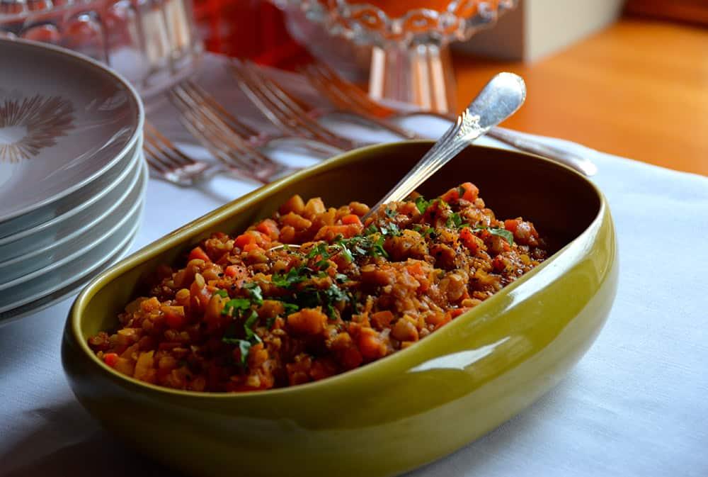 Red Lentil Side Dish