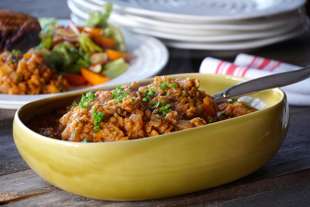 Red Lentil Side Dish