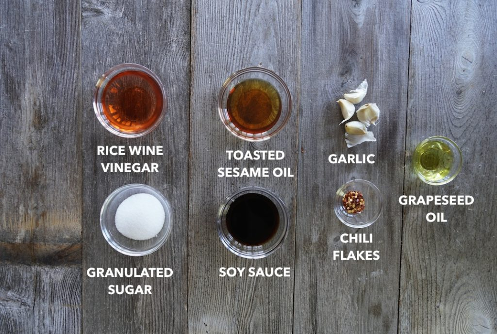Ingredients for Asian Salad Dressing
