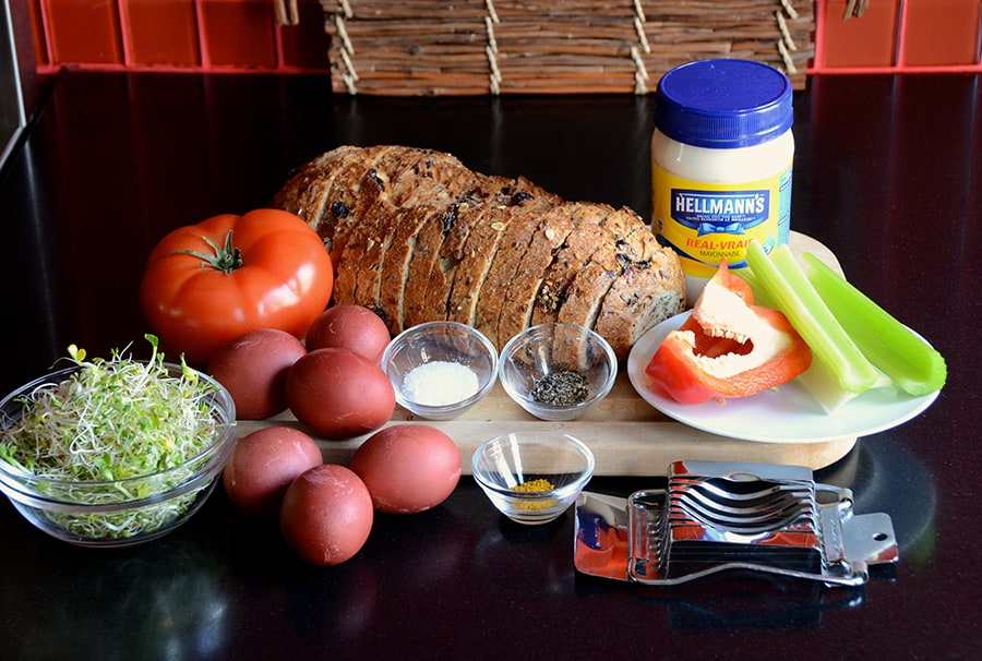 Ingredients for Classic Egg Salad