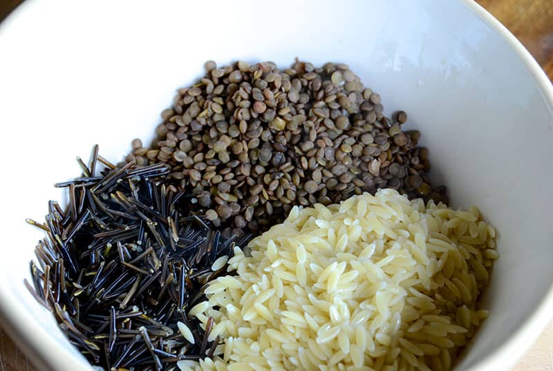 Wild Rice, Lentil And Orzo Salad