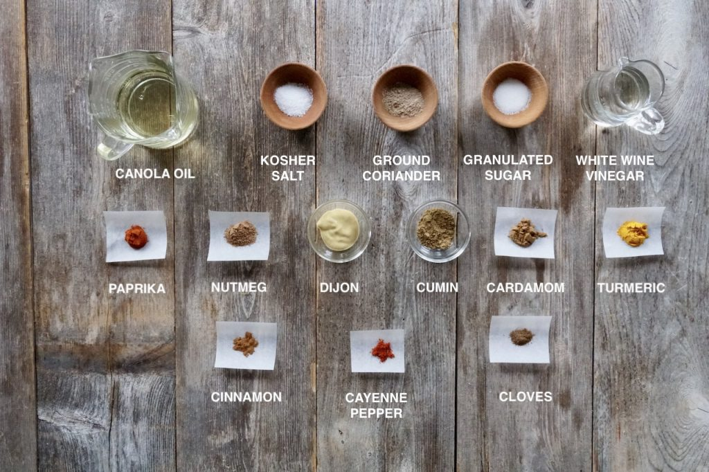Everything you'll need to make the dressing