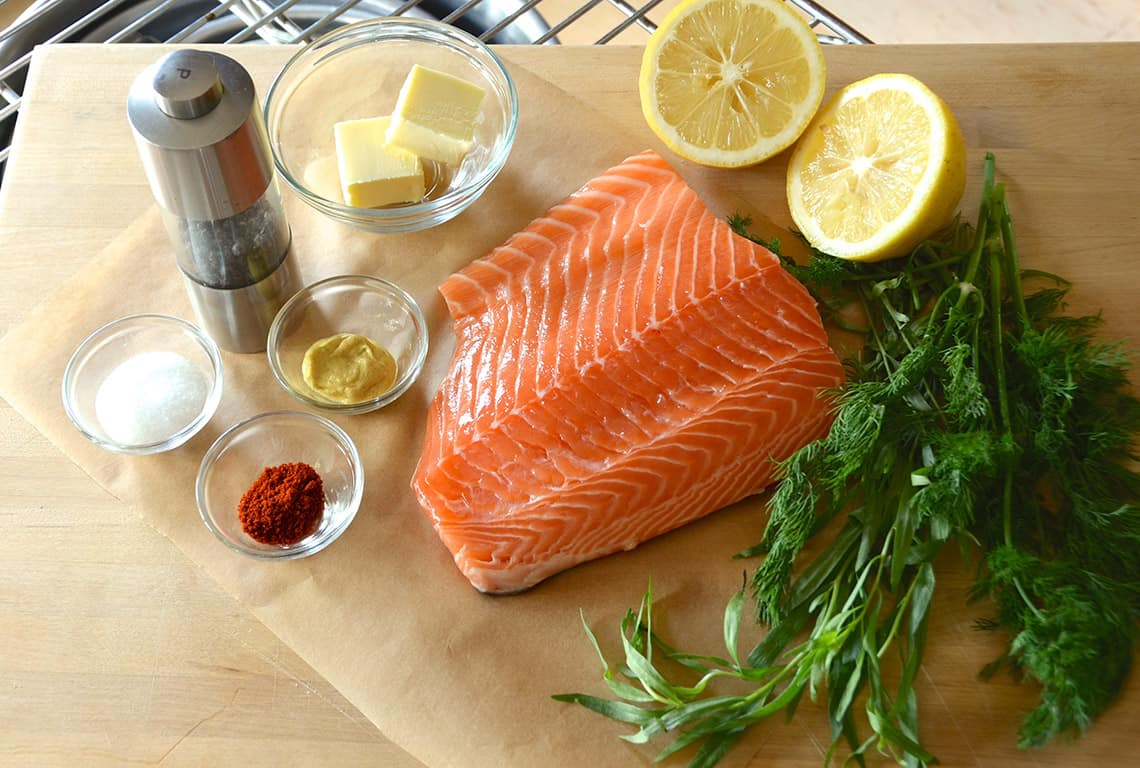Barbecued Salmon Fillet