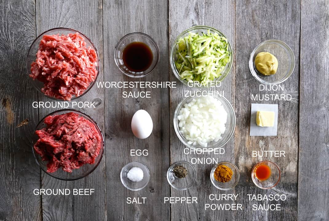 Ingredients for Juicy Hamburgers