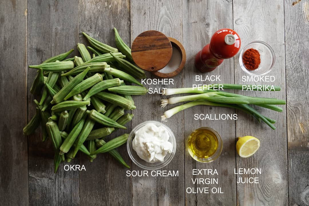 Ingredients for Grilled Okra