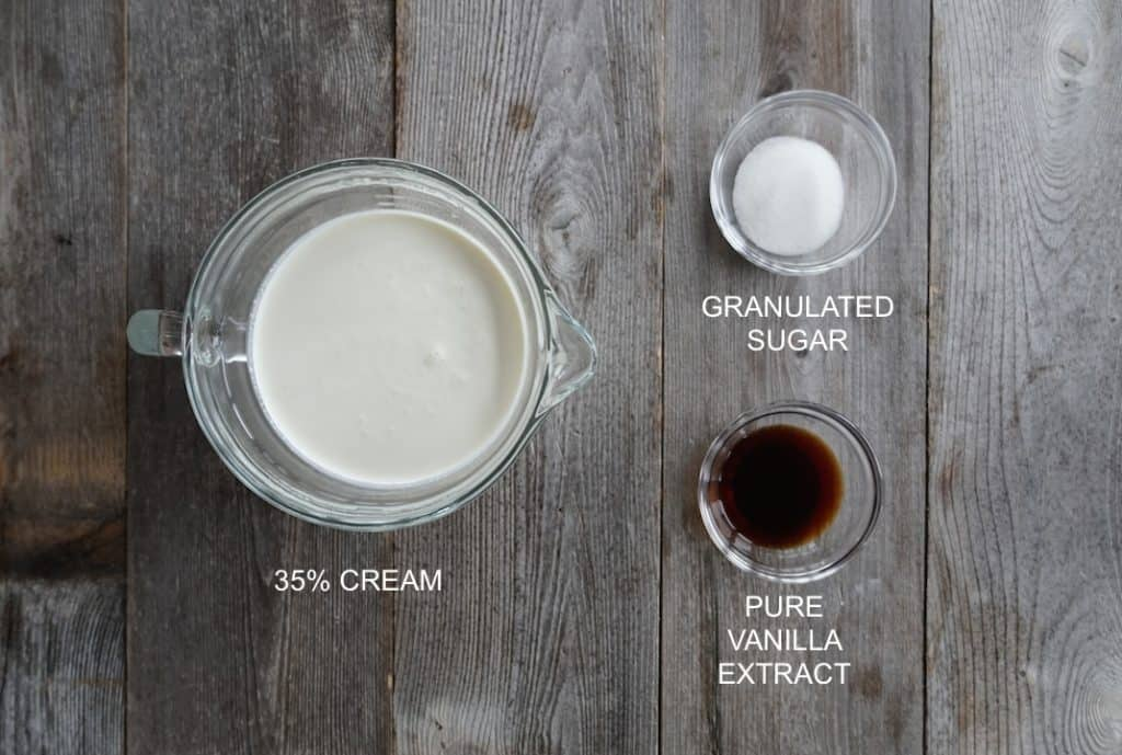 whipped cream will be simple