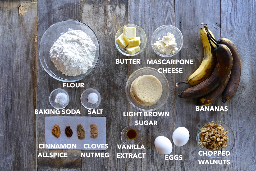 Ingredients for our Best Banana Bread