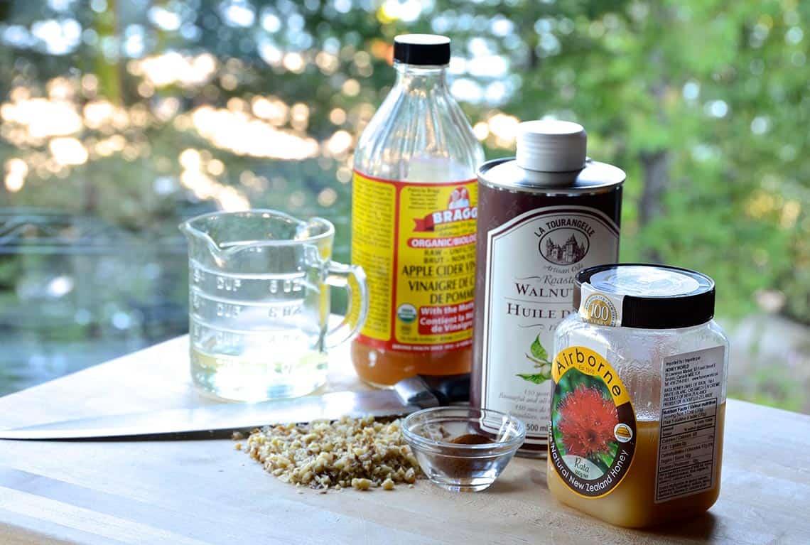 Ingredients for the vinaigrette