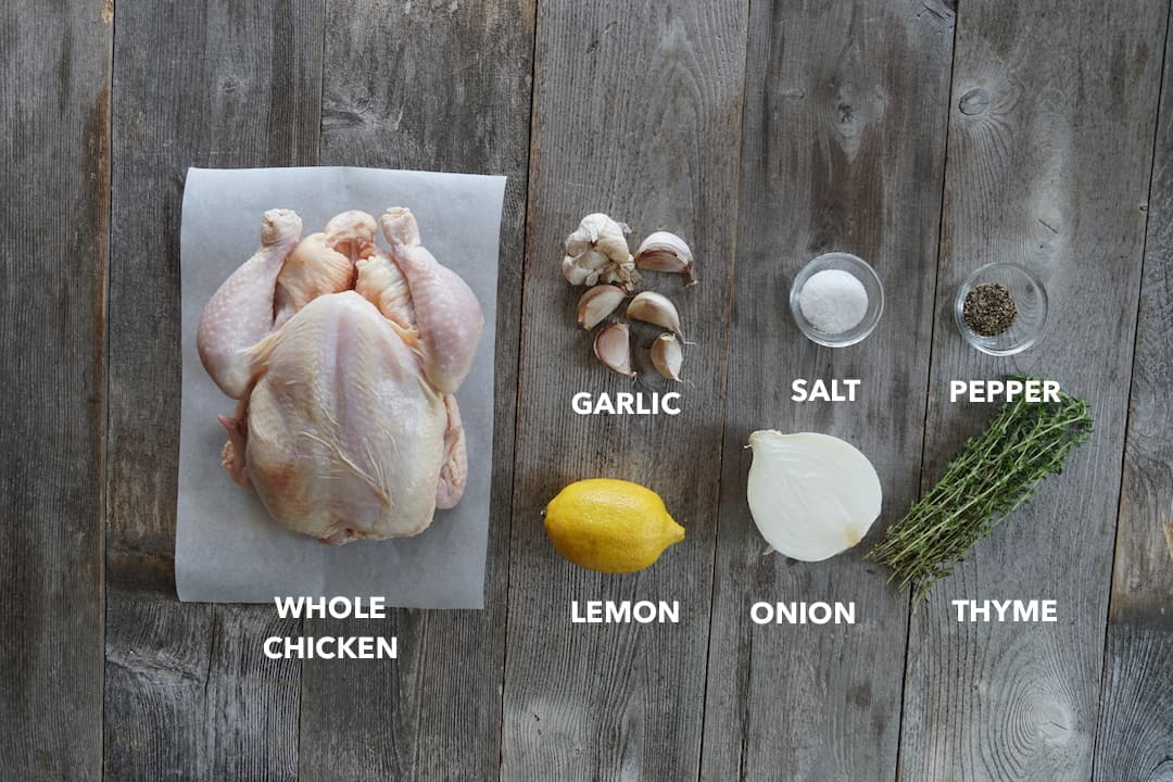Ingredients for Easy Roast Chicken