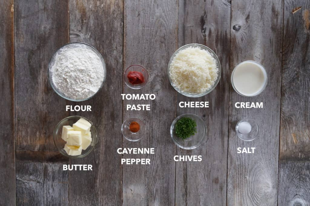 Ingredients for Spicy Cheese Sticks