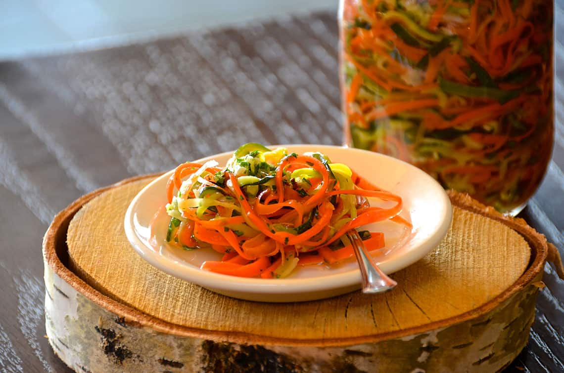 Pickled Zucchini and Carrots