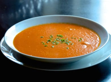 A bowl of Easy Homemade Tomato Soup