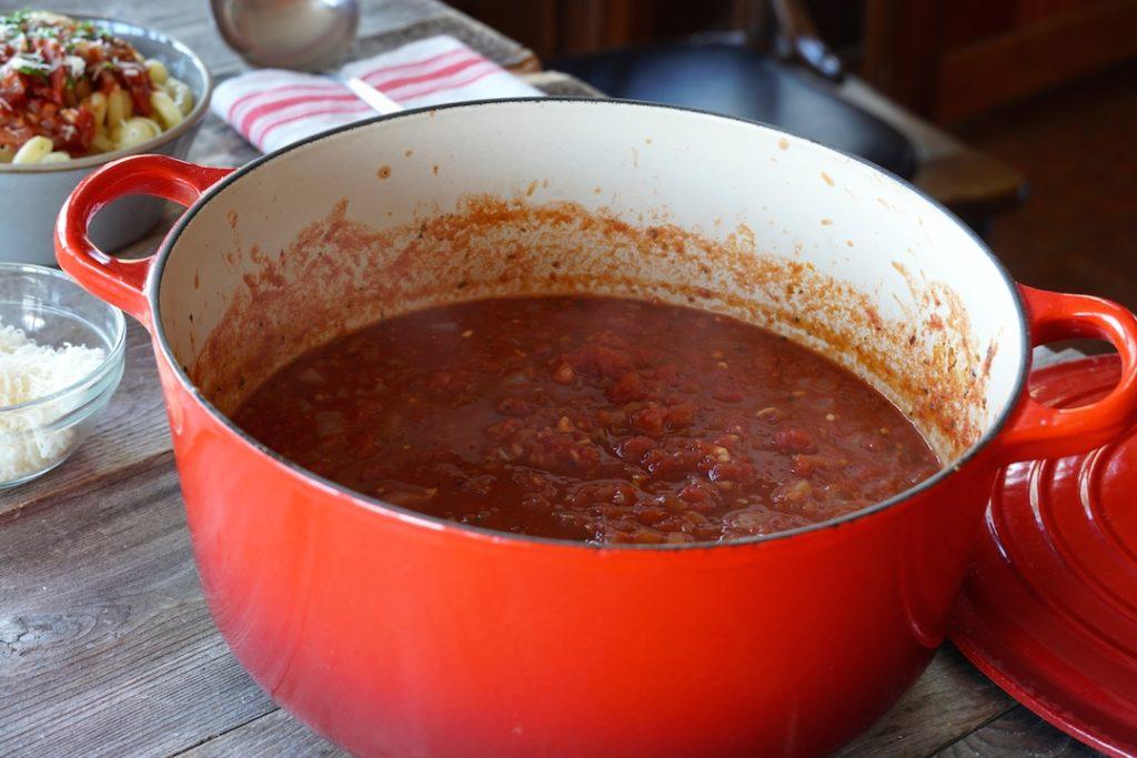 A glorious pot of Marinara Sauce