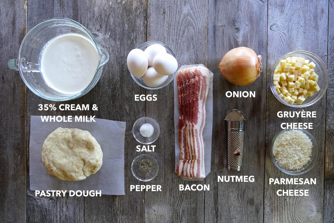 Ingredients for Quiche Lorraine Recipe