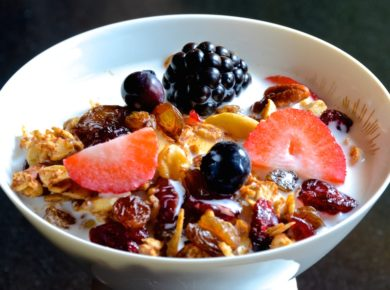 A bowl of our GLUTEN-FREE GRANOLA recipe!