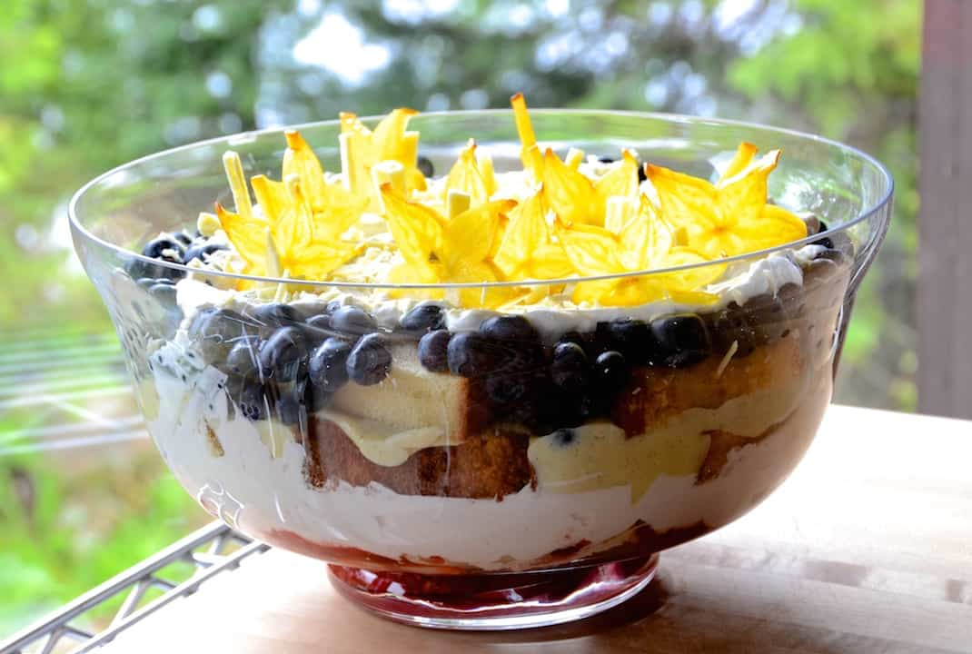 Star-Studded Red White And Blue Trifle