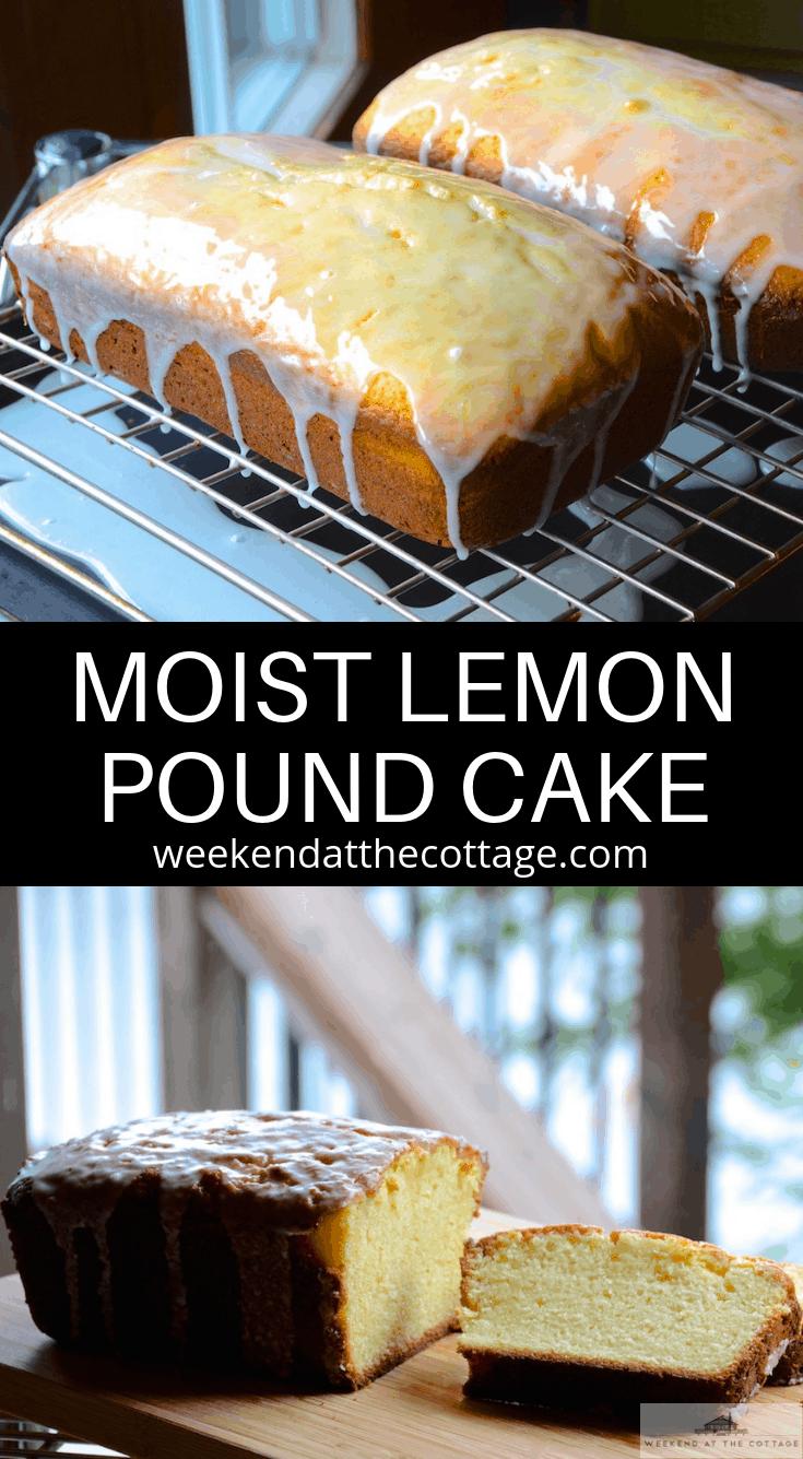 Moist Lemon Pound Cake