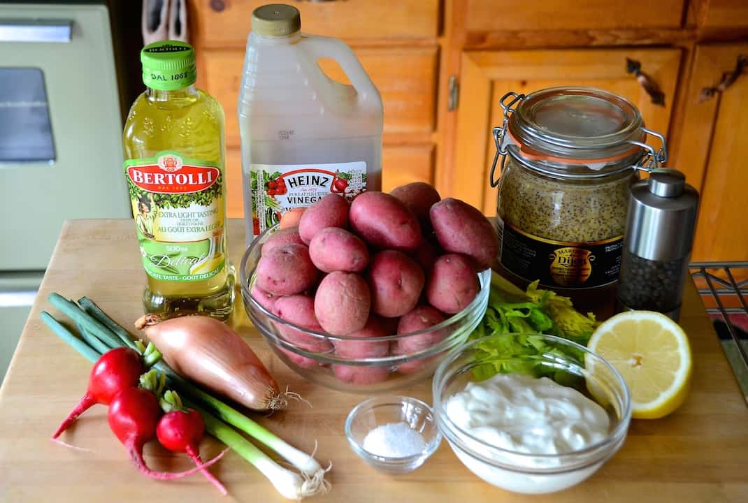 Ingredients for The Beast Warm Potato Salad