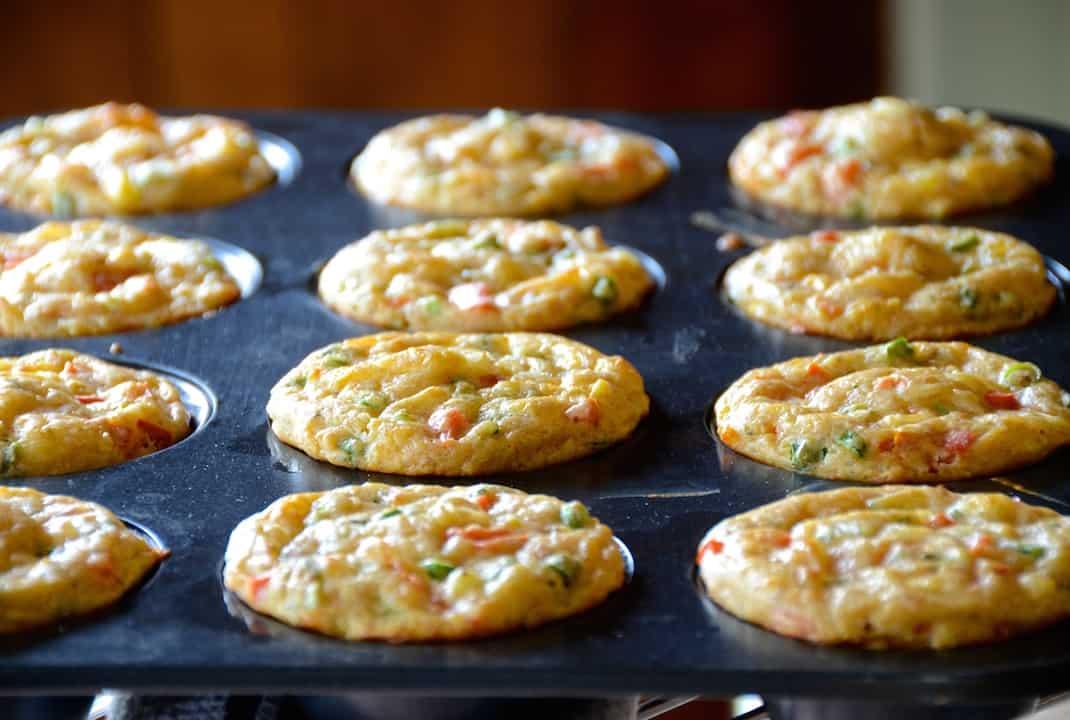 Savoury Muffins With Cheese And Veggies