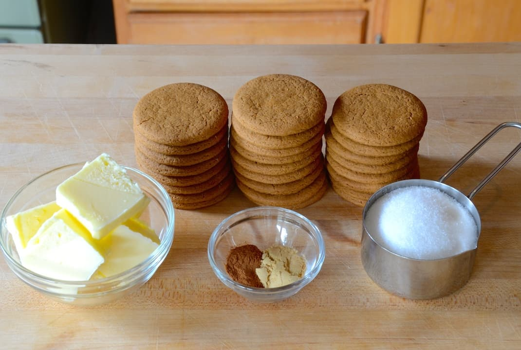 Ingredients for the ginger snap crust