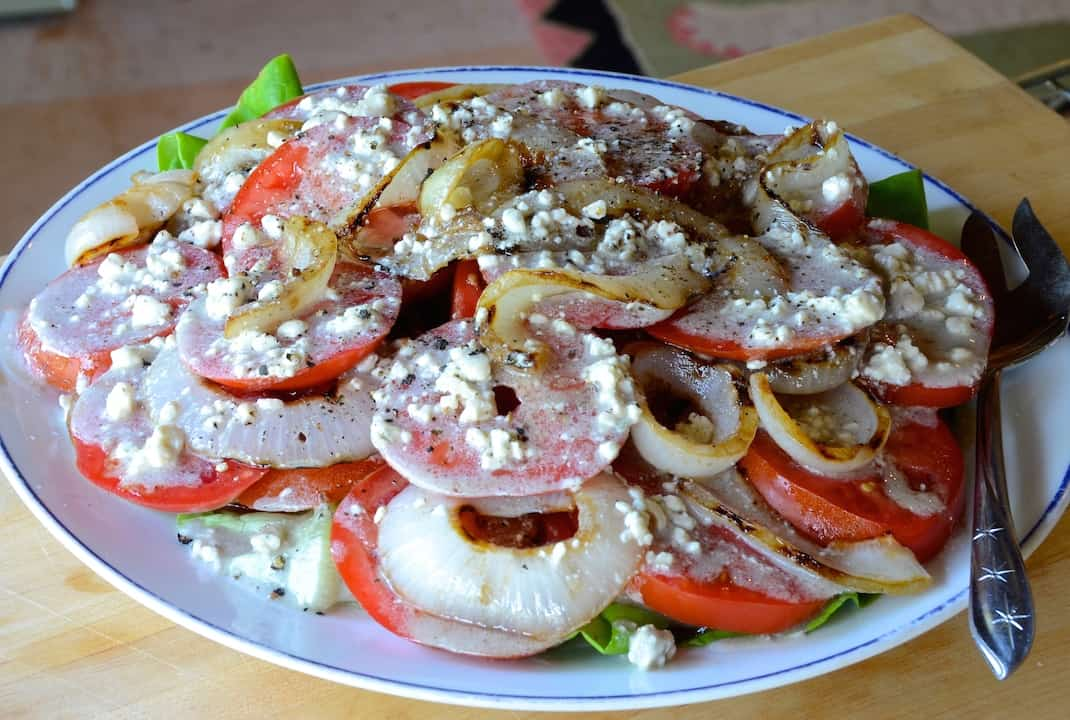 Tomato Onion Salad w/ Blue Cheese
