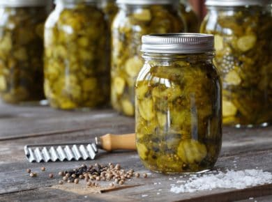 Jars of Bread and Butter Pickles