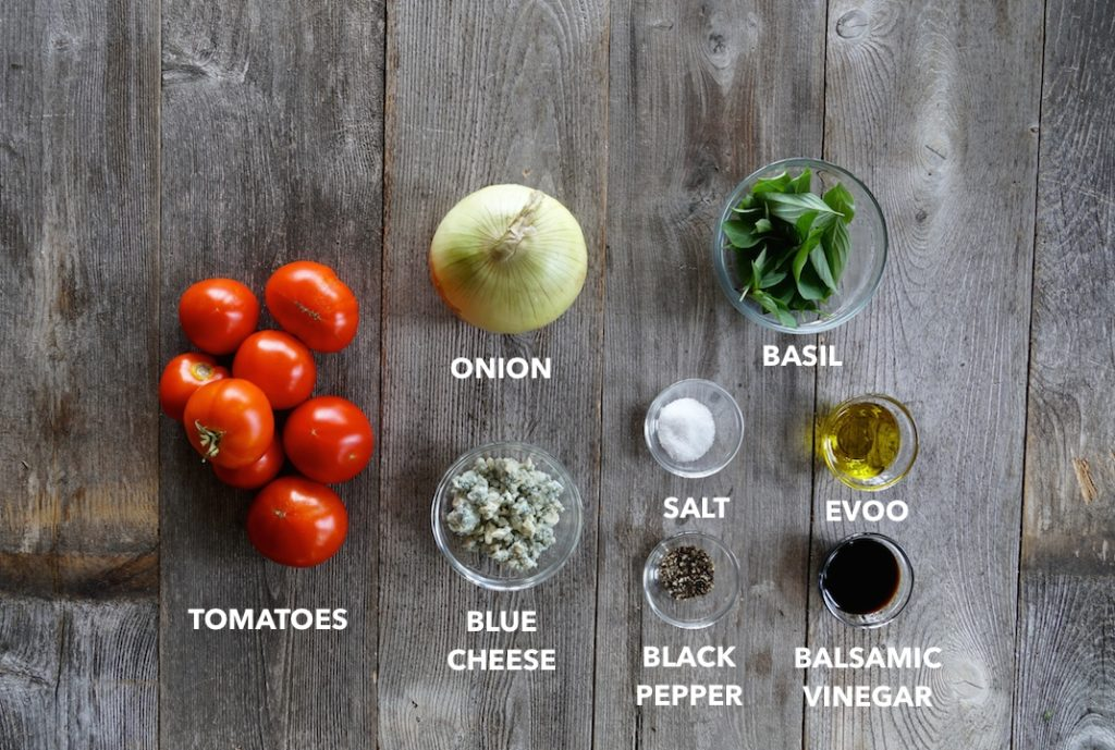 Ingredients for Tomato Onion Salad