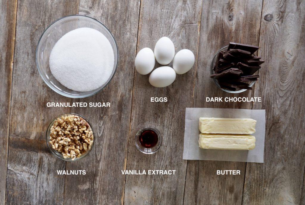 Ingredients for Dark Chocolate Brownies