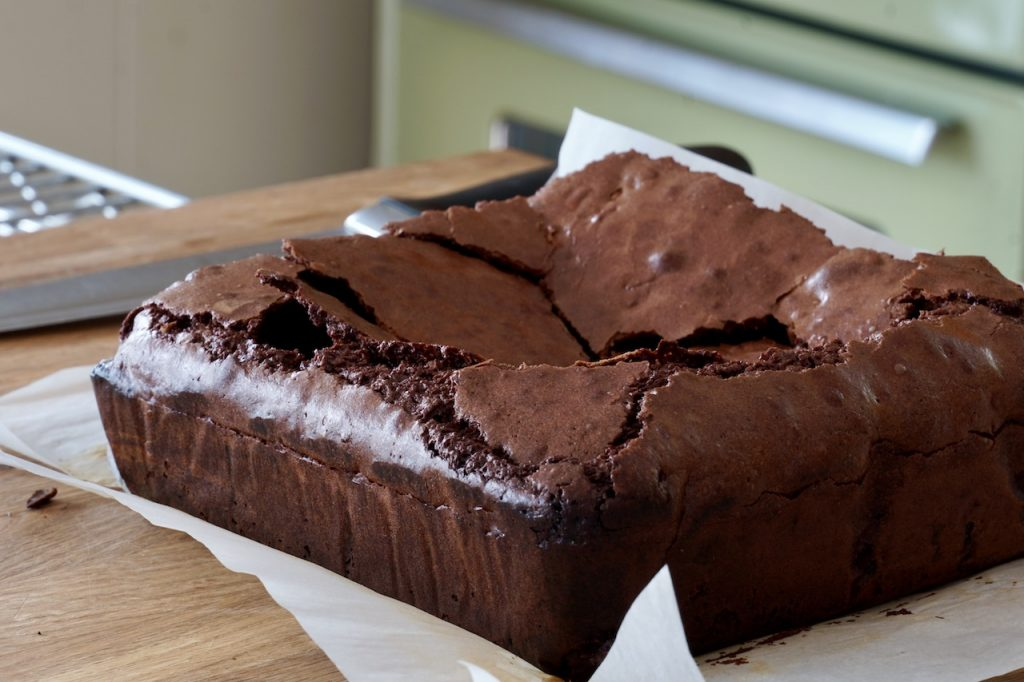 The brownies come out of the pan easily using parchment paper