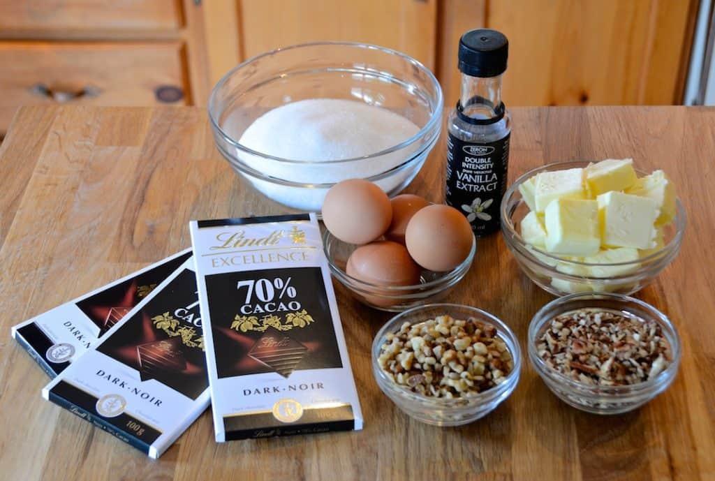 Ingredients for Gluten-Free Brownies Recipe
