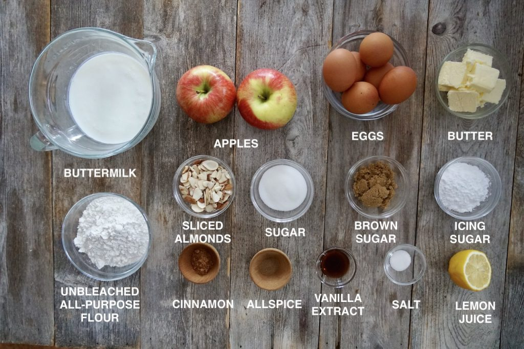 Ingredients for Puffed Apple Pancakes